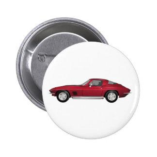 Corvette 1967 Coche de deportes El caramelo Appl Pin