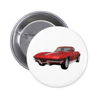 Corvette 1967 Coche de deportes Final rojo Pins