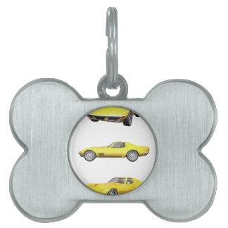 Corvette 1970: Final amarillo: Placas Mascota