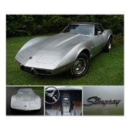 corvette 1975 convertibale print