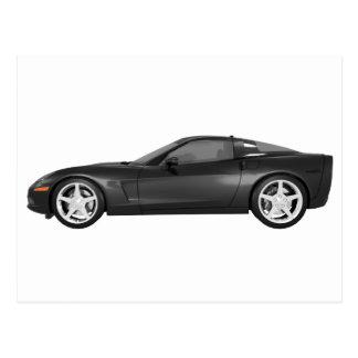 Corvette 2008: Coche de deportes: Acabado en negro Tarjetas Postales