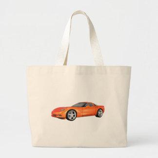 Corvette 2008: Coche de deportes: Final anaranjado Bolsa Tela Grande