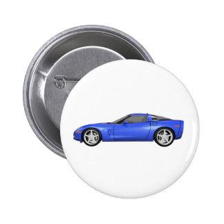 Corvette 2008: Coche de deportes: Final azul: Pin