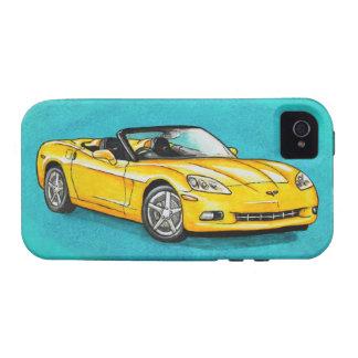 Corvette amarillo iPhone 4 funda