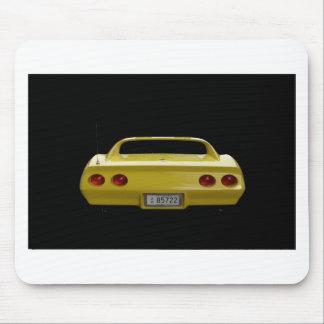 Corvette amarillo tapete de raton