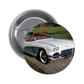 Corvette antique cars classic autos vintage cars pinback button