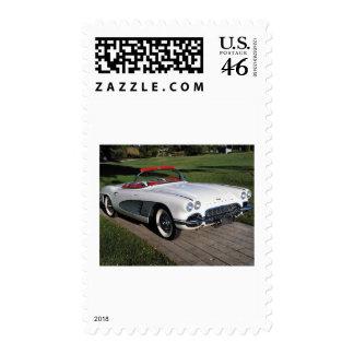 Corvette antique cars classic autos vintage cars postage