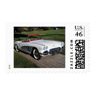 Corvette antique cars classic autos vintage cars stamp