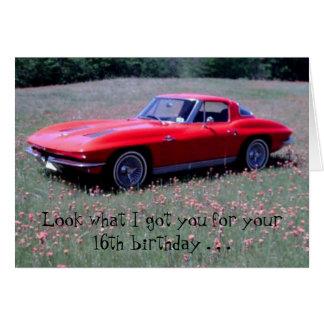 Corvette Birthday Card
