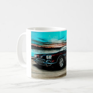 Corvette C1 Mug, Black Cherry Vette. Coffee Mug