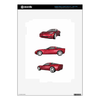 Corvette: Candy Apple Finish Decals For iPad 3