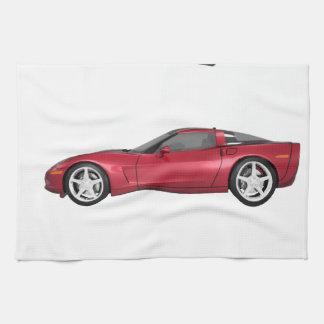 Corvette: Candy Apple Finish Hand Towel