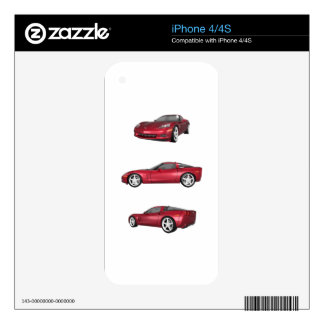 Corvette: Candy Apple Finish iPhone 4S Decal