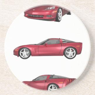 Corvette: Candy Apple Finish Sandstone Coaster