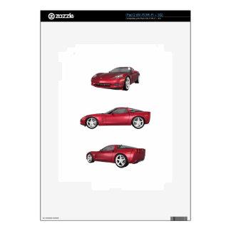 Corvette: Candy Apple Finish Skins For iPad 2
