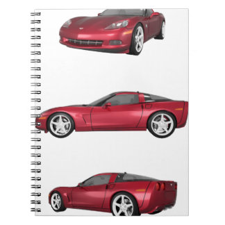 Corvette: Candy Apple Finish Spiral Notebook
