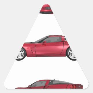 Corvette: Candy Apple Finish Triangle Sticker