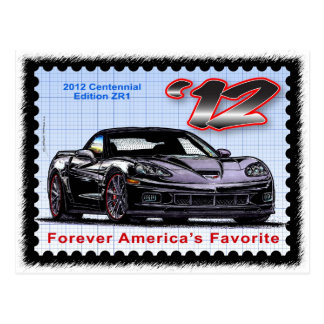 Corvette centenario de la edición 2012 Z06 Postal