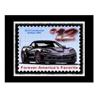 Corvette centenario de la edición 2012 Z06 Postales