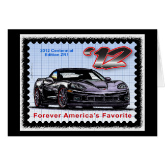 Corvette centenario de la edición 2012 Z06 Tarjeta De Felicitación