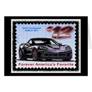 Corvette centenario de la edición 2012 Z06 Tarjeta Pequeña