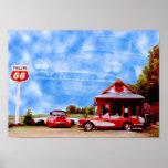 Corvette Clouds Posters