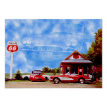 Corvette Stingray on Corvette Posters  Corvette Prints  Art Prints  Poster Designs
