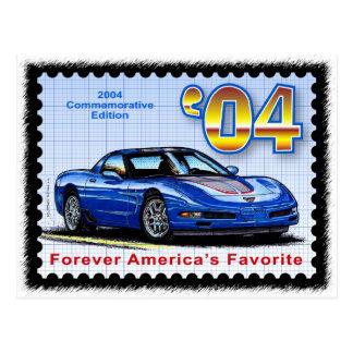 Corvette conmemorativo de la edición 2004 tarjetas postales