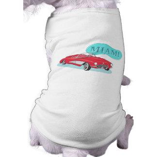 Corvette de la obra clásica de Miami Camisetas De Mascota