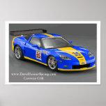 Corvette del desafío C6 Z06 del mundo Poster