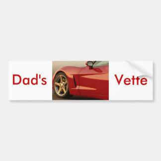 Corvette del día de padre pegatina para coche