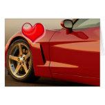 Corvette del el día de San Valentín Felicitación