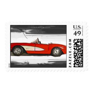 Corvette del franqueo sello postal