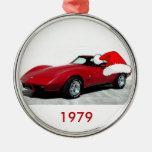 Corvette del rojo de 1979 navidad ornamentos para reyes magos