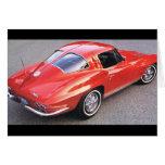 Corvette del rojo del día de padre tarjeton
