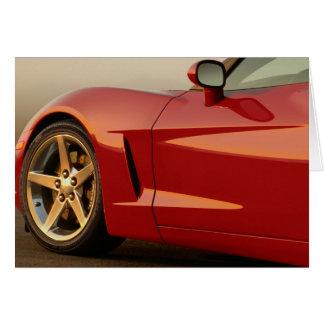 Corvette del rojo del feliz cumpleaños tarjeta de felicitación