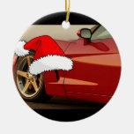 Corvette del rojo del navidad ornamento de reyes magos