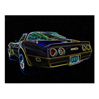 Corvette el an o 80 postal