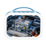corvette lunchbox, chevy lunchbox, racecar