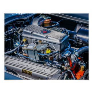Corvette Fuel Injected Engine Poster