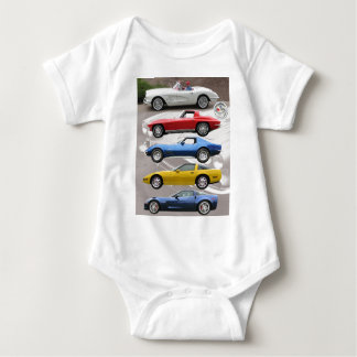Corvette Generations Baby Bodysuit