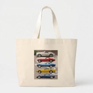 Corvette Generations Canvas Bags