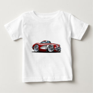 Corvette Maroon Car Baby T-Shirt