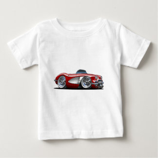 Corvette Maroon Convertible Baby T-Shirt