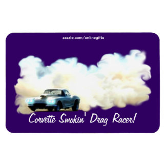 Corvette Model Drag-Racing Speedway Art Magnet