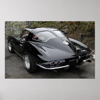 Corvette partido de la obra clásica de la ventana  impresiones