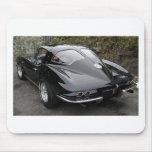 Corvette partido de la obra clásica de la ventana  tapetes de raton