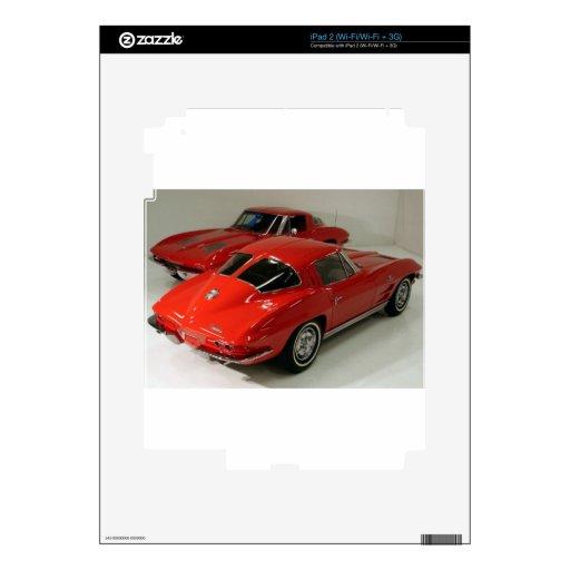Corvette partido del rojo de la ventana de la obra iPad 2 calcomanía