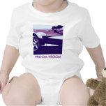 Corvette púrpura del arte pop camiseta