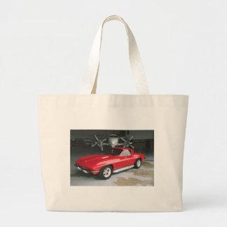 Corvette rojo bolsa tela grande